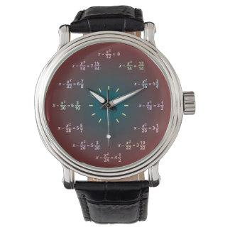 Reloj de la matemáticas (AM-PM)