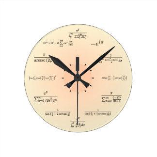 Reloj de la matemáticas (amarillo claro)
