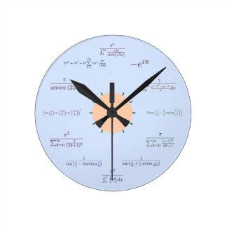 Reloj de la matemáticas (azul)