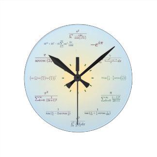 Reloj de la matemáticas (azul claro)