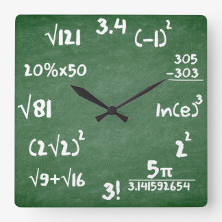 Reloj de la matemáticas para los amantes de las