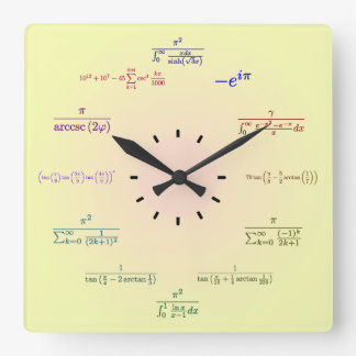 Reloj de la matemáticas (pendiente del Amarillo-Me