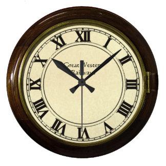 reloj de la mirada del ferrocarril del vintage