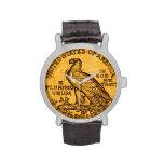 Reloj de la moneda de Eagle