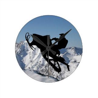 Reloj de la montaña del trineo