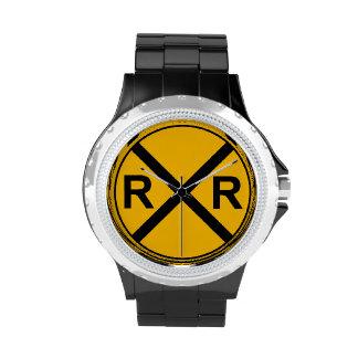 Reloj de la muestra de ferrocarril