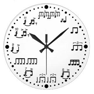 Reloj de la música de las notas y de los rudimento