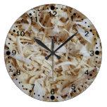 Reloj de la novedad de los pedazos de madera para