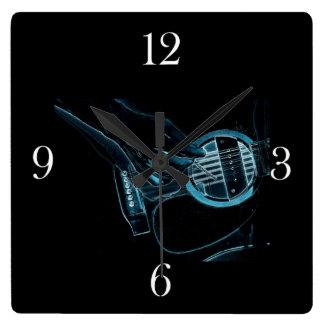 Reloj de la pared del amante de la música del guit