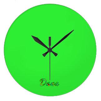 Reloj de la pared verde de Dana