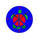 Reloj de la paz de la tortuga
