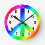 Reloj de la paz del arco iris del signo de la paz
