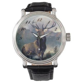 Reloj de la pintura del animal salvaje de los