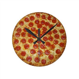 Reloj de la pizza del tiempo de la pizza