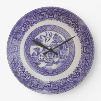 Reloj de la placa del modelo del sauce
