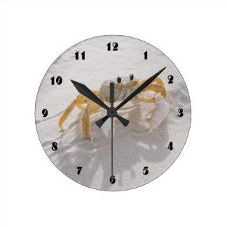 Reloj de la playa del cangrejo de la arena
