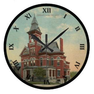Reloj de la postal de Ashland Ohio de la cárcel
