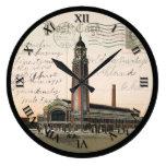 Reloj de la postal de Cleveland Ohio - mercado del