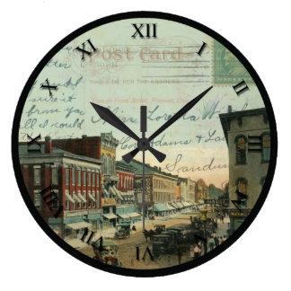 Reloj de la postal de Fremont Ohio - St delantero