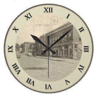 Reloj de la postal de Shreve Ohio - calle de