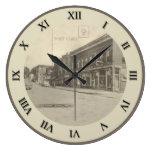 Reloj de la postal de Shreve Ohio - calle de merca