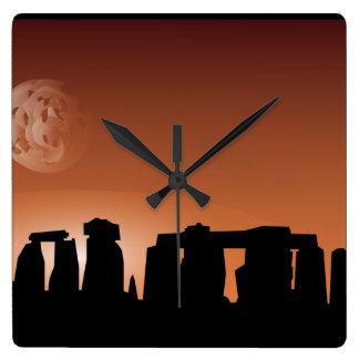 Reloj de la puesta del sol del sitio histórico de