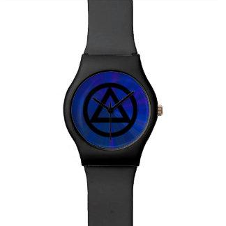 Reloj de la recuperación del triángulo del círculo