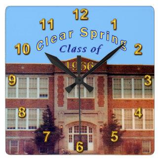 Reloj de la reunión de antiguos alumnos modificado