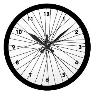 Reloj de la rueda de bicicleta con números