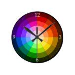 Reloj de la rueda de color