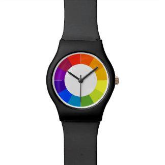 Reloj de la rueda de color (multicolor)