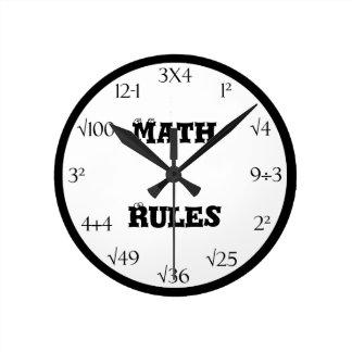 Reloj de la sala de clase de la ecuación de la mat