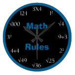 Reloj de la sala de clase del problema de matemáti