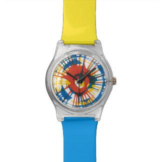 Reloj de la salpicadura del aerosol de la pintura