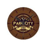 Reloj de la sepia de Park City