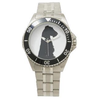 Reloj de la silueta de Airedale Terrier