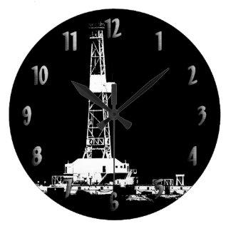 Reloj de la silueta de la plataforma de perforació