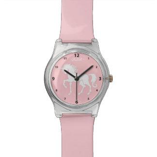 Reloj de la silueta del unicornio del baile