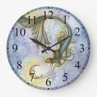 Reloj de la sirena de la luna del mar profundo por