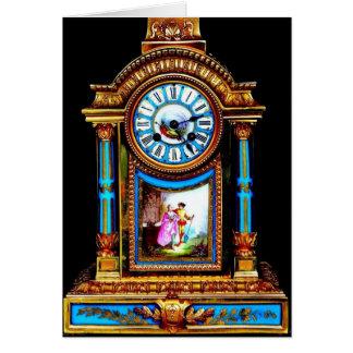 Reloj de la tarjeta del día de San Valentín del az