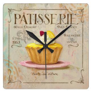 Reloj de la tarta del limón del Patisserie