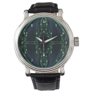 Reloj de la tecnología de la luz verde
