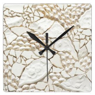 Reloj de la teja de la cáscara del mosaico