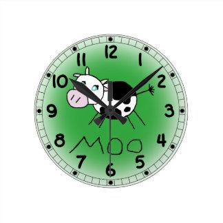 Reloj de la vaca del MOO
