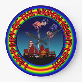 Reloj de la vida de noche de Akron Ohio