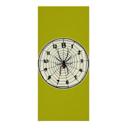 Reloj de la viuda negra de 13 horas en marco plantilla de lona