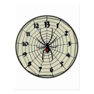 Reloj de la viuda negra de 13 horas en marco tarjetas postales