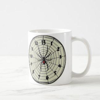 Reloj de la viuda negra de 13 horas en marco taza