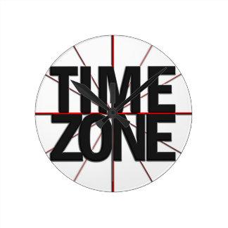 Reloj de la zona horaria para en cualquier momento