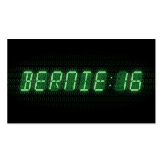 Reloj de las chorreadoras 2016 de Bernie Tarjetas De Visita
